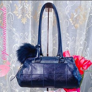 AUTH CHANEL VTG EUC Rare Quilt Bowler Shoulder Bag